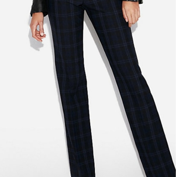 Express Pants - Express blue plaid barely boot pants